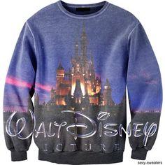Walt Disney Pictures Sweatshirt: OMG I want that soo badly! Disney Sweatshirts, Disney Sweaters, Disney Shirts, Disney Outfits, Disney Clothes, Disney Fashion, Disney Tops, Hoodies, Sexy Shirts