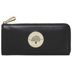 Mulberry Daria Slim Zip wallet Black Soft Spongy Leather...£280!