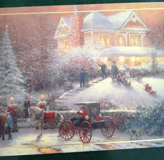 Thomas Kinkade Christmas by Mailbox Happiness-Angee at Postcrossing, via Flickr