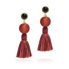 Lizzie Fortunato - Modern Craft Fringe Tassel Earrings (€165) ❤ liked on Polyvore featuring jewelry, earrings, tassle earrings, lizzie fortunato earrings, colorful earrings, tassel earrings and beaded tassel earrings