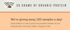 Organic Valley Milk Protein Shake Giveaway