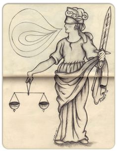 """""""Lady of Justice"""" Sketch-A-Day from 29-11-2012  © 2012 Mauricio Gomez"""