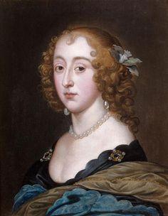 Henriette, reine d'Angleterre by ? after Sir Anthonis van Dyck (Tajan) | Grand Ladies | gogm