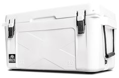 Brute Box Coolers.  These heavy-duty American-made coolers from Brute Box work better than most, keeping ice in a solid state for up to 5 days. They're available in 25, 50, 75, 100, and 150 quart sizes.