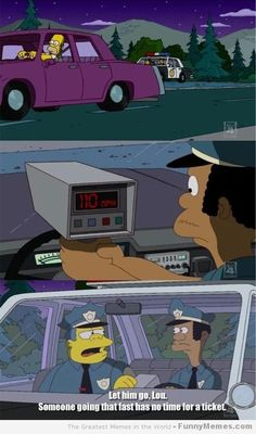 Not everyone can be like Homer #lol Check out these 'top tips' for not losing points #speeding