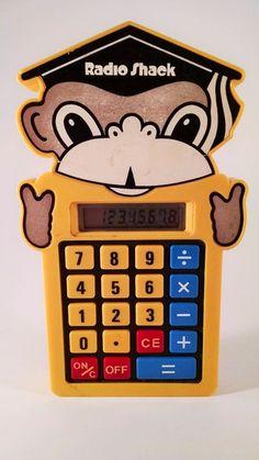 Vintage Radio Shack Monkey Calculator Children's Works Great Retro Free Shipping #RadioShack