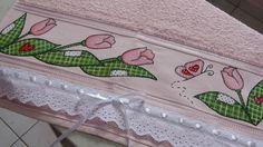 Artes Mariana Santos: Pintura em tecido: Pintando toalha para lavabo no ...