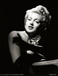 Lana Turner, 1940s, vintage, actress.