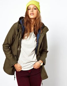 Carhartt Parka -- this will be mine. another warm wintercoat Green Parka, Parka Style, Carhartt, I Dress, Passion For Fashion, Bomber Jacket, Leather Jacket, Style Inspiration, My Style
