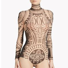 Not a real tat, just a bodysuit with great inspirational potential for tattoos.