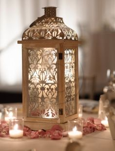 lantern with lace