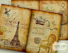 AGED STORYBOARD No2  Four Designed Backgrounds  Digital by ArtCult, $4.99