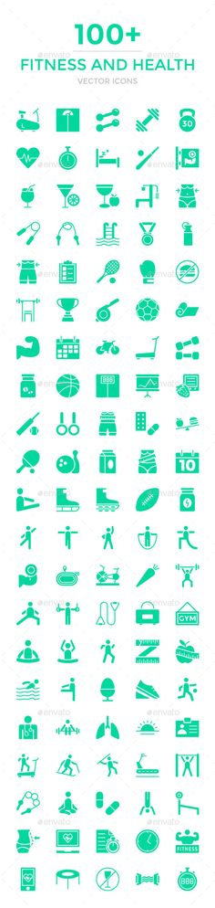 100+ Fitness and Health Vector Icons