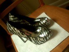 Steve Madden Bliss Zebra design Size 6 Wedges shoes #SteveMadden #PlatformsWedges #Clubwear
