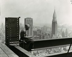 Lewis Hine (American, 1874–1940). Empire State Building, 1930s. The Metropolitan Museum of Art, New York. Ford Motor Company Collection, Gift of Ford Motor Company and John C. Waddell, 1987 (1987.1100.325) #newyork #nyc