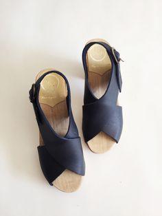 ebe68445c6fb Style · No. 6 Crossover Clog - Indigo Crazy Shoes