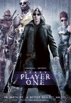 Check out this set of 12 classic movie posters recreated for Ready Player One featuring the High Five avatars Parzival, Aech, Daito, and Shoto. Marvel Movie Posters, Classic Movie Posters, Classic Movies, Marvel Movies, Science Fiction, Martin Scorsese, Cultura Pop, Stanley Kubrick, Alfred Hitchcock