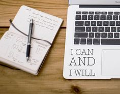 Laptop Sticker - I Can and I Will i can and i will laptop sticker macbook apple decal vinyl sticker vinyl decal inspirational trendy decor gift idea custom gift custom sticker laptop accessory 6.00 USD #goriani