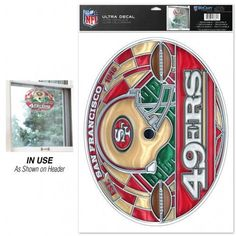 """San Francisco 49ers Stained Glass - 11"""" x 17"""""""