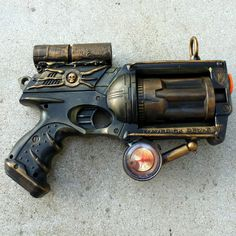 Steampunk Gun Nerf Maverick NStrike by oldjunkyardboutique on Etsy, $69.99