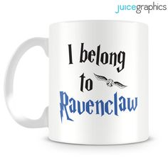 Harry Potter inspired I belong to Ravenclaw mug by JuiceGraphics