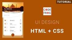 Travel Card UI Design Tutorial #UIDesign #TravelCard #TajMahal Ui Design Tutorial, Design Tutorials, Card Ui, Html Css, Mobile App Ui, Travel Cards, App Ui Design, Trip Planning, Taj Mahal