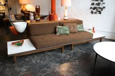 Mid Century Modern Sofa in the Style of George Nelson