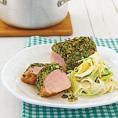 Schweinefilets mit Champignon-Bärlauch-Kruste