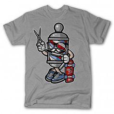 Items similar to Barber Skater Cream Unisex Kids T-shirt on Etsy Barber Clothing, Barber Man, Barber Shop Decor, Barbershop Design, Biker T Shirts, Shirt Designs, Unisex, Trending Outfits, Mens Tops