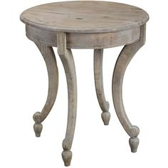 Handcrafted from salvaged hardwood, this handsome end table brings timeworn character to any space. Top it with a vase of fresh hydrangeas for a lovely touch...