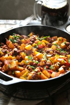Cowboy Skillet Hash for TWO!! This is a great one skillet breakfast made just for TWO!: