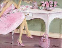 He encontrado estas pinturas, no conocía al artista... pero Gail Mccormack    me ha conquistado, tiene una sensibilidad que se contagi... Arte Shabby Chic, Shabby Chic Painting, Estilo Shabby Chic, Romantic Shabby Chic, Vintage Shabby Chic, Vintage Pink, Cottage Art, Painted Cottage, Rose Cottage