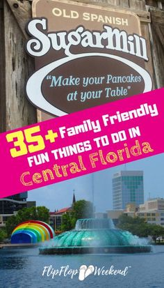 If you are planning a getaway, check out this post featuring 35 fun Orlando attractions and things to do in Central Florida to help you plan your next perfect Central Florida family vacation. Visit Florida, Florida Vacation, Florida Travel, Florida Beaches, Clearwater Florida, Orlando Vacation, Sarasota Florida, Beach Travel, Florida Trips