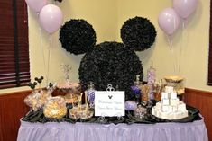 Disney Mickey Mouse wedding party candy bar idea.