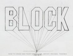 3d block letters 5