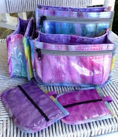Using laminated fabrics for  your Purse insert will make it last FOREVER!  :)