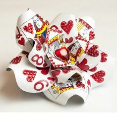Queen of hearts card flower