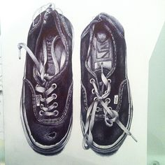 lynseyhayton:  #art #drawing #illustration #pen #biro #realism #realistic #vans #shoes @vans