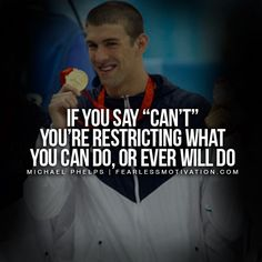 20 Inspiring Michael Phelps Quotes - Quotes Of A Champion - Swimming motivation - Swimmer Quotes, Golf Quotes, Sport Quotes, Quotes Quotes, Wisdom Quotes, Self Motivation Quotes, Sport Motivation, John Maxwell, Positive Quotes