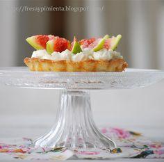 fresa & pimienta: Cheesecake con higos y mascarpone.