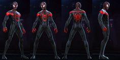 Spiderman Suits, Miles Morales, Squad, Avengers, Batman, Darth Vader, Marvel, Superhero, Board