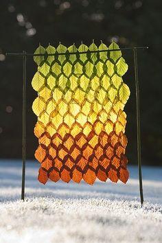 Richard Schilling leaf art sculpture