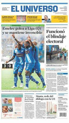 Portada de #DiarioELUNIVERSO del 24 de marzo del 2014. Las #noticias de #Ecuador y el mundo en: www.eluniverso.com