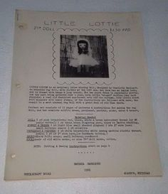 Little Lottie Rag Doll And Clothing Patterns 1966 Barbara Bannister
