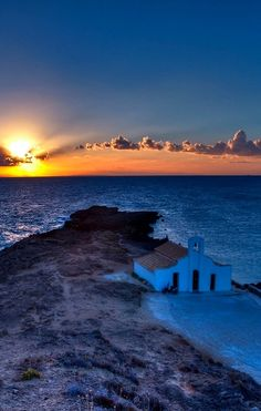Chapel at sunrise, Zakynthos Island, Greece | Flickr - Photo by MartinJ-N