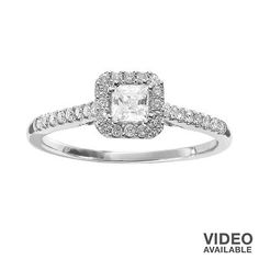 Can't  wait for it to get here!!!!!!!! Simply Vera Vera Wang Diamond Halo Engagement Ring in 14k White Gold (1/2 ct.