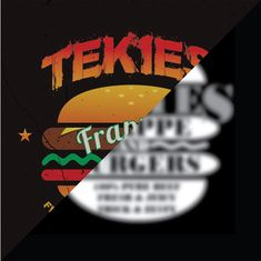 Logo design for Tekies Burger Logo Design, Graphic Design, Photo Manipulation, Thesis, Vector Art, Philippines, Digital Art, Advertising, Logos