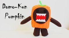 How to Make a Domo Pumpkin plushie tutorial