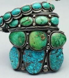 turquoise and jade bracelets