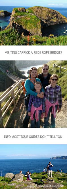What most tourist guides don't tell you about visiting Carrick-a-Rede Rope Bridge. Ireland travel tips   Ireland vacation   IrelandFamilyVacations.com